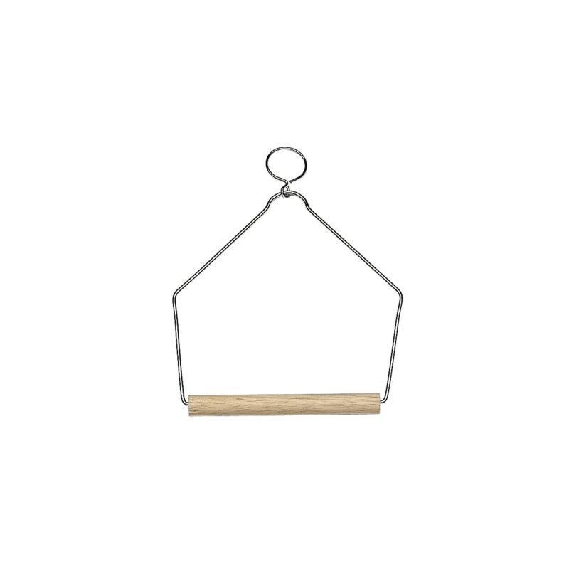 Дървена люлка за птици - 12,3Х15,2 СМ