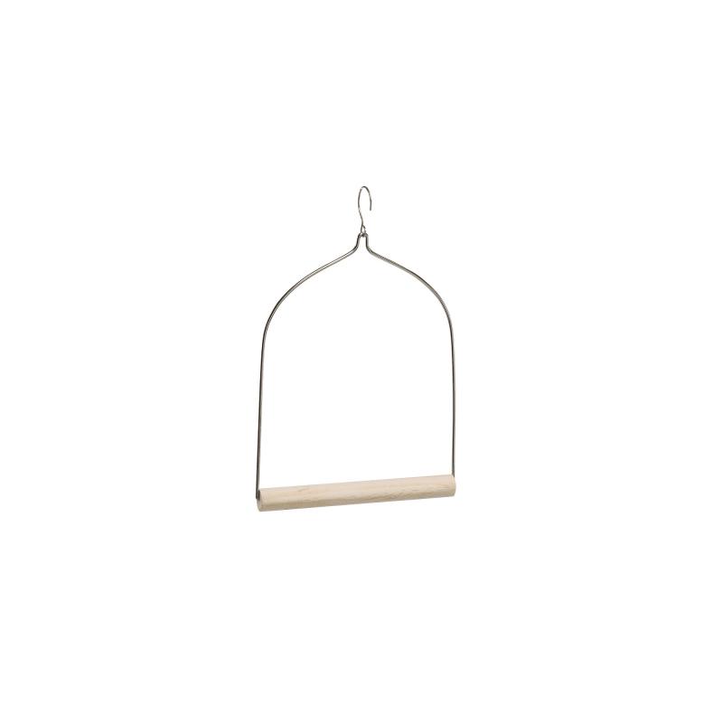 Дървена люлка за птици - 17,9Х19 СМ