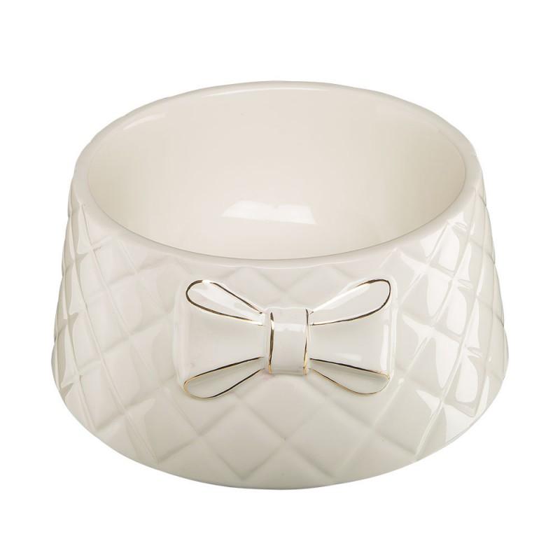Бяла порцеланова купа с панделка –...